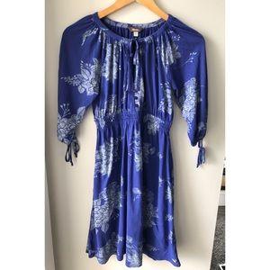 Roots Cotton Blue Peasant Dress